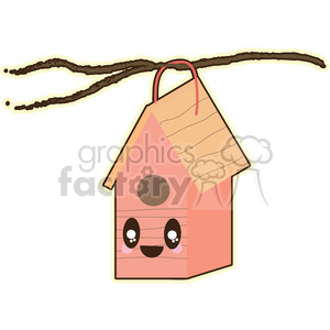 Birdhouse cartoon character illustration clipart. Commercial use image # 394119
