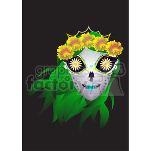 Day of the Dead 5 cartoon character illustration clipart. Royalty-free image # 394139