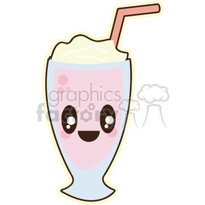 Milkshake cartoon character illustration clipart. Royalty-free image # 394149