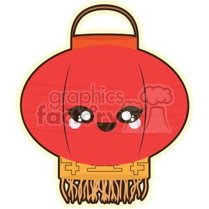 Chinese Lantern cartoon character illustration clipart. Royalty-free image # 394179