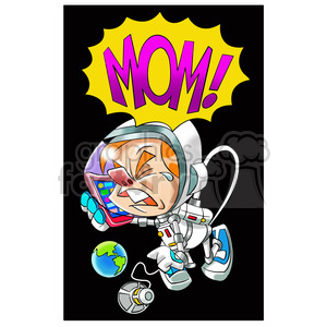 astronaut crying for his mommy clipart. Royalty-free image # 394254