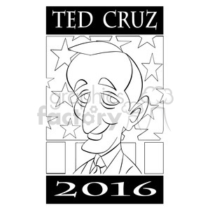 cartoon character people person ted cruz 2016