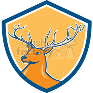 red deer marching SHIELD clipart. Royalty-free image # 394430