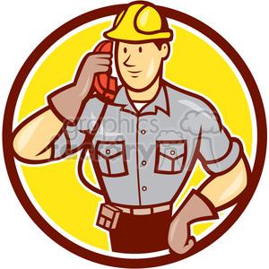 telephone repairman calling phone CIRC