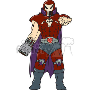 warrior skull face pointing CARTOON clipart. Royalty-free image # 394490