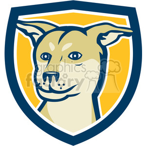 husky shar pei dog HEAD SHIELD clipart. Commercial use image # 394550