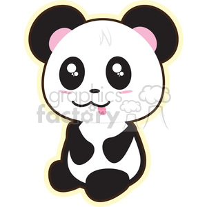 little panda bear clipart. Commercial use image # 394600