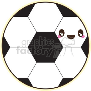 soccer ball with cartoon face clipart. Royalty-free image # 394660