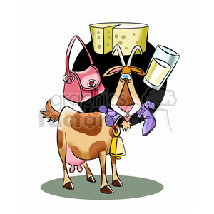 cattle thinking about products they are part of clipart. Royalty-free image # 394750