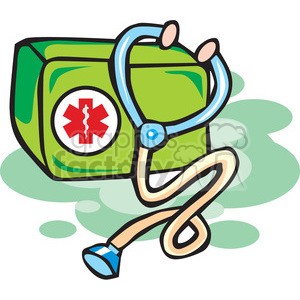 medical bag clipart. Royalty-free image # 165711