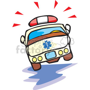 cartoon ambulance clipart. Royalty-free image # 166063