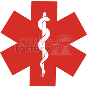 Red Medical Symbol clipart. Commercial use image # 394872