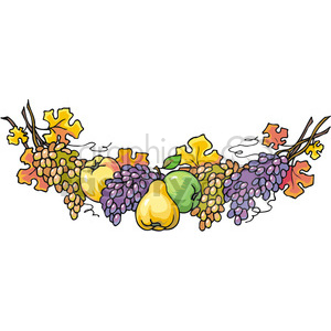 Garland of fruit clipart. Royalty-free image # 145458