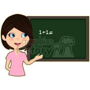 cartoon cute character teacher student school chalkboard classroom work