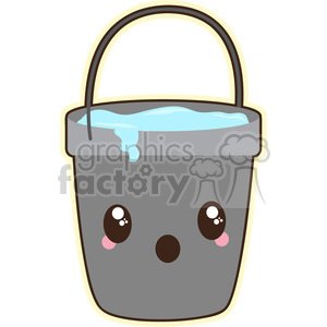 Water Bucket cartoon character vector image
