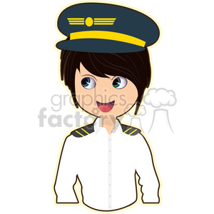 Pilot cartoon character vector image clipart. Commercial use image # 394923