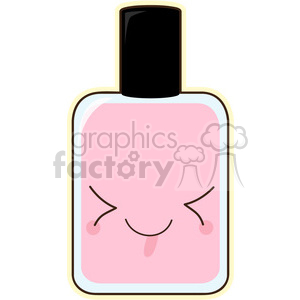 Nail Polish cartoon character vector image clipart. Royalty-free image # 394973