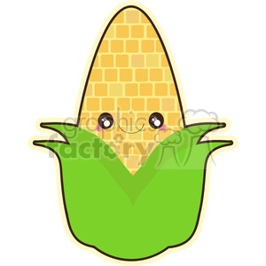 Corn cartoon character vector clip art image clipart. Royalty-free image # 395009
