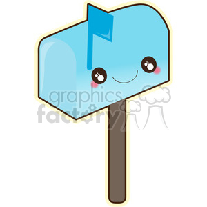 cartoon character mail mailbox blue postage messages email