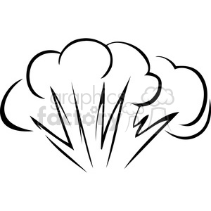 black and white explosion clipart. Royalty-free image # 173727