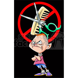no hair cut clipart. Commercial use image # 395076