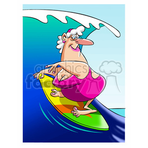 older women surfing clipart. Royalty-free image # 395096