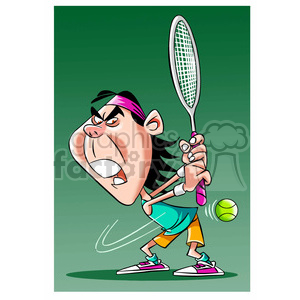 rafa nadal tennis player clipart. Royalty-free image # 395186