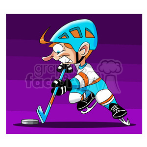 cartoon hocky player