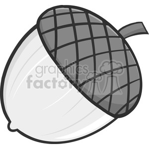 Royalty Free RF Clipart Illustration Acorn Cartoon Illustrations In Gray Color clipart. Royalty-free image # 395887