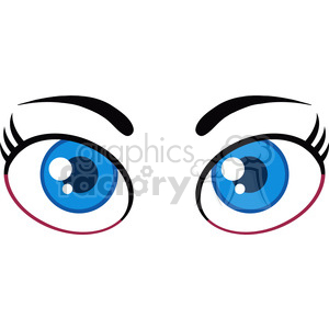 Royalty Free RF Clipart Illustration Cartoon Women Blue Eyes clipart. Royalty-free image # 395947