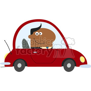 8265 Royalty Free RF Clipart Illustration Smiling African American Manager Driving Car To Work In Modern Flat Design Vector Illustration clipart. Royalty-free image # 395977