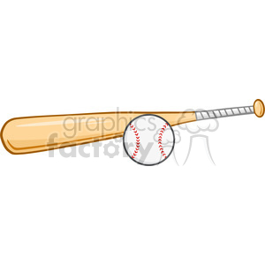 Wooden Baseball Bat And Ball clipart. Royalty-free image # 396058