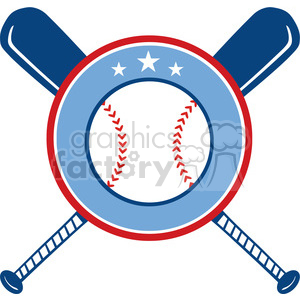 Crossed Baseball Bats And Ball Banner clipart. Royalty-free image # 396068