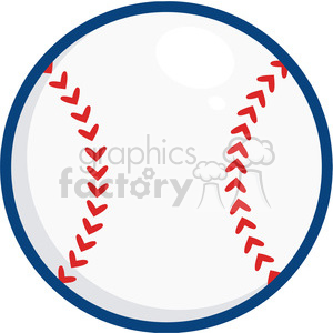 Baseball Ball blue outline clipart. Royalty-free image # 396078