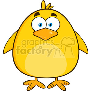 8585 Royalty Free RF Clipart Illustration Cute Yellow Chick Cartoon Character Vector Illustration Isolated On White clipart. Commercial use image # 396098