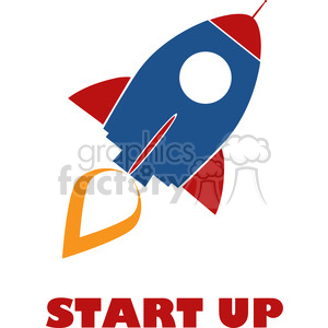 8314 Royalty Free RF Clipart Illustration Retro Rocket Ship Concept Vector Illustration With Text