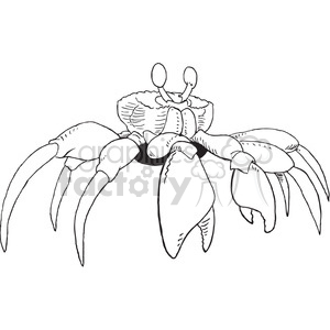 cartoon black+white animal crab