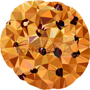 Choc chip cookie triangle art geometry geometric polygon vector graphics RF clip art images clipart. Royalty-free icon # 397317