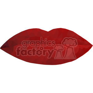 Lips geometry geometric polygon vector graphics RF clip art images clipart. Commercial use image # 397327