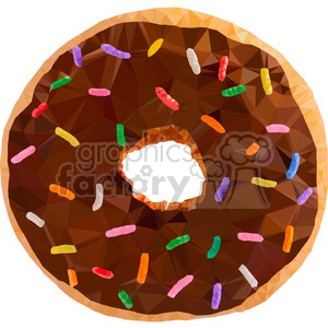 geometry polygons snack sugar birthday party doughnut doughnuts sprinkles triangle+art