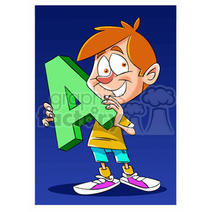 cartoon letter A  clipart. Royalty-free image # 397407