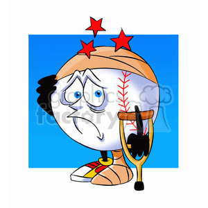 cartoon baseball mascot speedy injured clipart. Royalty-free image # 397437