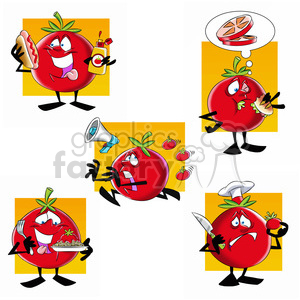 tom the cartoon tomato character clip art image set clipart. Commercial use image # 397637