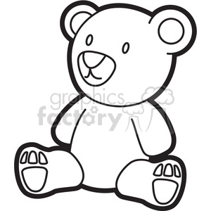 teddy bear outline clipart. Commercial use image # 397925