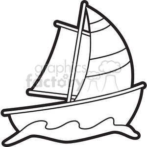 cartoon sailboat clipart. Commercial use image # 397935