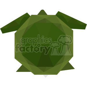 Tortoise polygon animal art clipart. Royalty-free image # 397965