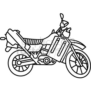 military armored motorcycle vehicle outline clipart. Commercial use image # 397975