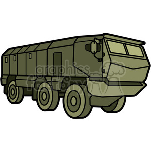 military armored mobile missle vehicle clipart. Commercial use image # 397985