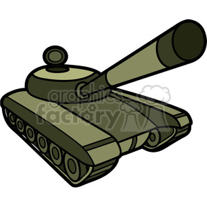 battle tank clipart. Royalty-free image # 397995