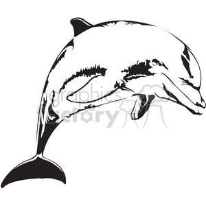 dolphin outline vector clipart. Royalty-free image # 398025